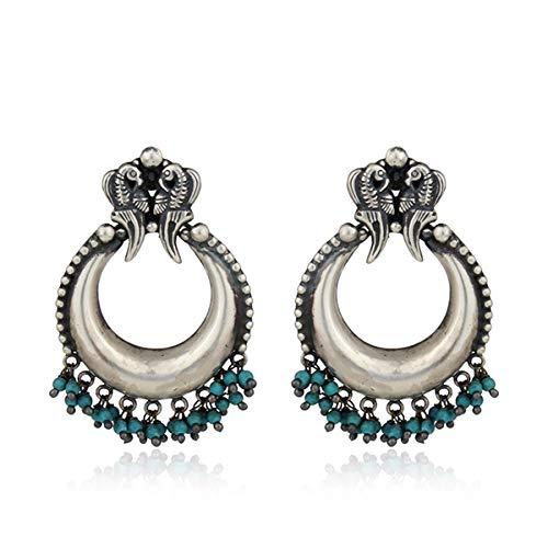 973e63c75 Antique Oxidized Peacock Design Turquoise Gemstone Jewelry 925 Silver Bali  Earrings: Amazon.ca: Handmade