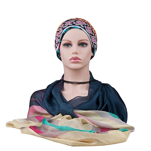 L7 Mannequin Female Soft Skin Mannequin Head Bust With Ear Holes (Pvc Head)