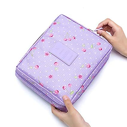 499aaf33b6fb Amazon.com  Funnmart Girl Makeup Bag Women Cosmetic Bag Wash Toiletry Make  Up Organizer Storage Travel Kit Bag Multifunction Ladies Bag Case  Kitchen    ...
