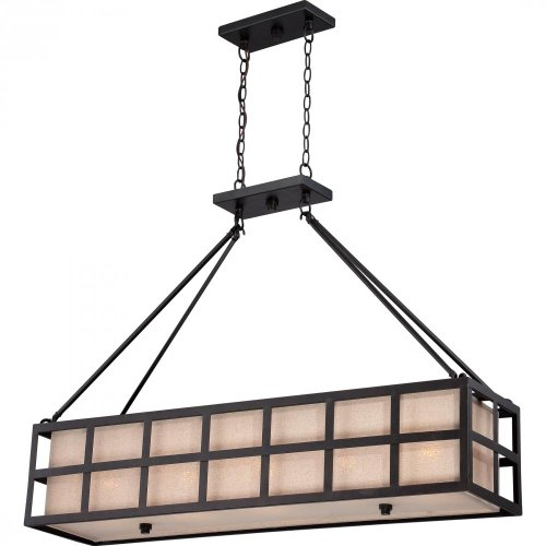 Quoizel CKMS442TM Marisol with Teco Marrone Finish,  Island Chandelier and 5 Lights,  Black