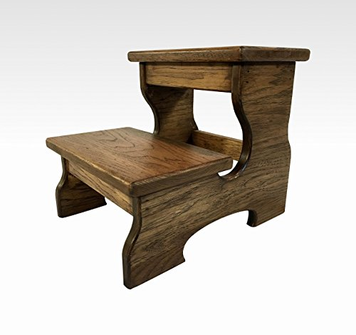 Two Step Stool in Espresso by Candlewood Furniture, Rustic, Wood, Wooden, Kids, Grandma Gift, Grandpa Gift, Grandparents Gift, Bed, Bathroom, Custom