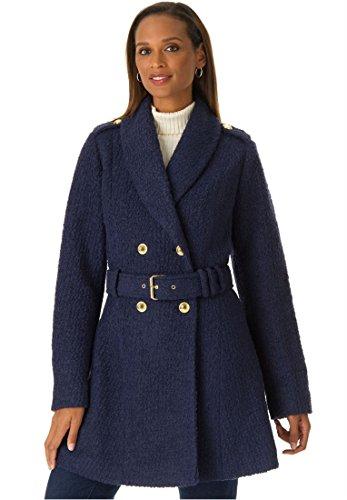 Boucle Plus Size Coat (Plus Size Jessica London Belted Boucle Coat)