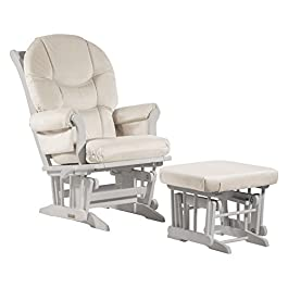 "Ultramotion by Dutailier Sleigh Glider and Nursing Ottoman Combo with ""C"" Cushion"