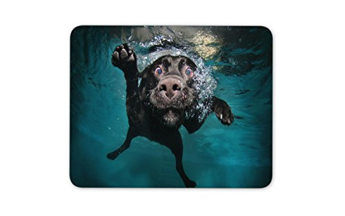 41rGee3 9GL - Underwater dog Mouse pad Gaming Mouse pad Mousepad Nonslip Rubber Backing