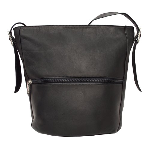 Piel Leather Bag Bucket Piel Leather Negro q57HBPww