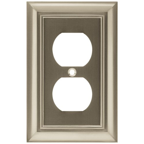 BRAINERD 64234 Architectural Single Duplex Outlet Wall Plate / Switch Plate / Cover