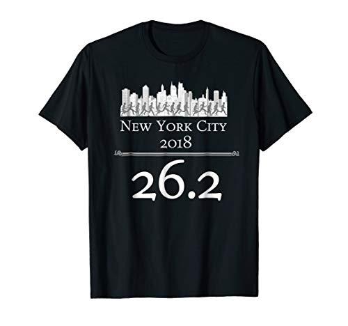 New York City 2018 Marathon T-Shirt - 26.2 NYC Runner ()