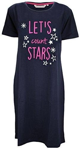 da camicia in Navy notte decorativo di con Fowever cotone Dreaming motivo jersey Stars THFwxqE