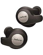 Jabra Elite Active 65T Draadloze Bluetooth Sport Hoofdtelefoon, Muziek en Telefoneren, met Oplaadcase, Stembediening, Titanium, Zwart
