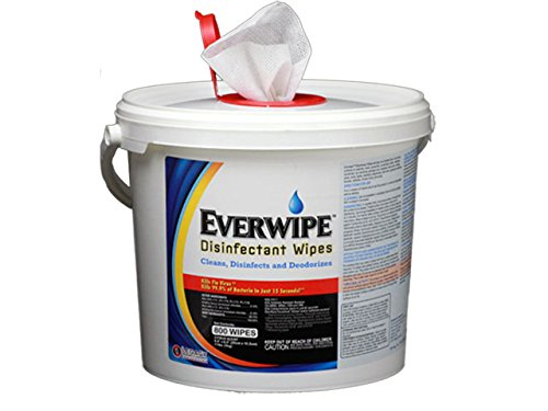 10100 Everwipe Disinfectant Wipes. 800 Ct, 4/Cs, (Pack of 4)