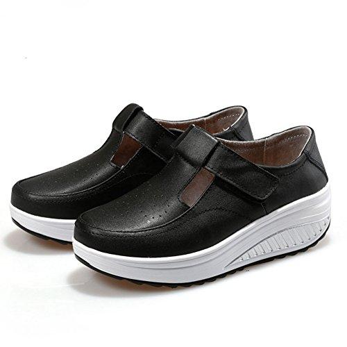 Snbling Basse Sneakers Basse Traspiranti Per Le Donne Comode Scarpe Da Passeggio Sportive Di Moda Nere
