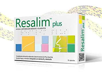 2 x RESALIM PLUS 10 COMPRIMIDOS RESACA TOTAL 20 COMPRIMIDOS SHIP WORLDWIDE BY CIRCLE SHOP