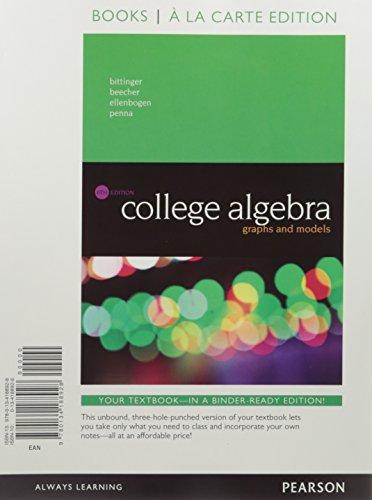 Coll.Alg.:Graphs+Models(Ll) W/Mymathlab