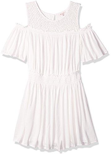 Price comparison product image Ella Moss Big Girls' Cold Shoulder Dress, Full Sail, 12