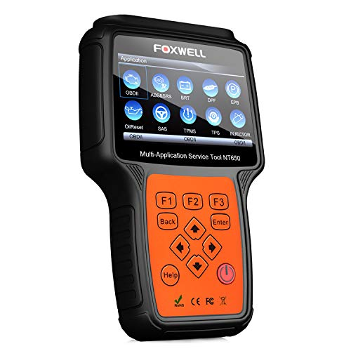 FOXWELL Multi-Application NT650 Automotive Code Reader Obd2 Scanner ABS/Airbag/SAS/EPB/DPF/BRT/EPS/CVT/Oil Reset Car Special Service Diagnostic Scan Tool