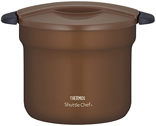 Thermos Vacuum Heat Insulation Cooker shuttle chef 4.3L [for 4 to 6 People] Mocha Kbf-4501 Mc by Thermos