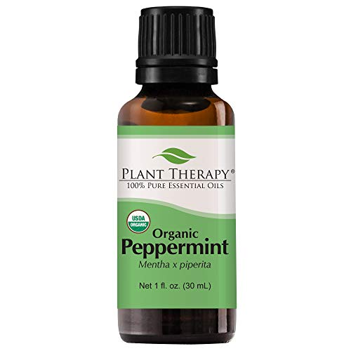 Plant Therapy Peppermint Organic Essential Oil | 100% Pure, USDA Certified Organic, Undiluted, Natural Aromatherapy, Therapeutic Grade | 30 Milliliter (1 ()
