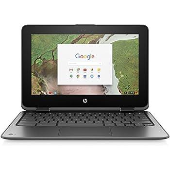 HP Chromebook x360 11-inch Convertible Laptop, Intel Celeron N3350, 4GB RAM, 16GB eMMC storage, Chrome OS (11-ae010nr, Gray)