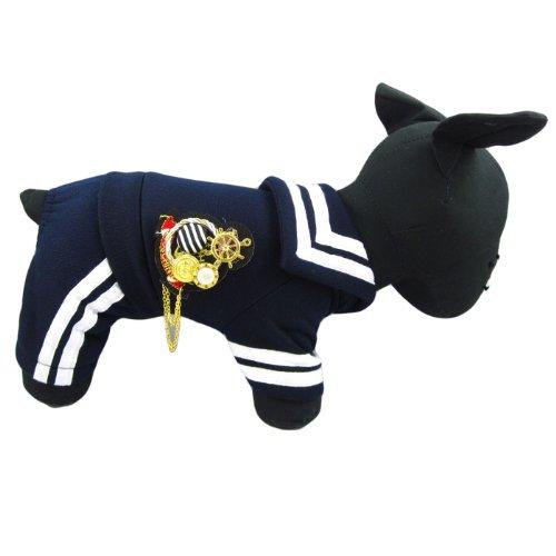 Alfie Couture Designer Pet Apparel - Frank Sailor Jumper - Color Navy, Size: -