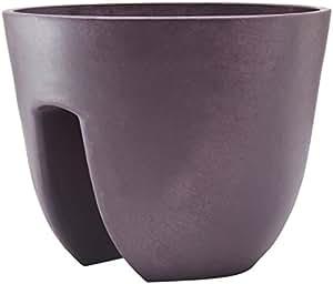 MARC VERDE macetero Redondo (uddo Balcony Púrpura 30x 30x 24cm) 9000ML MVD 000455