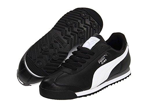 (プーマ) PUMA 靴シューズ メンズスニーカー PUMA Roma Basic Black/White/Puma Silver ブラック/ホワイト/プーマ シルバー US 10 (28cm) D B00KTSOQNU