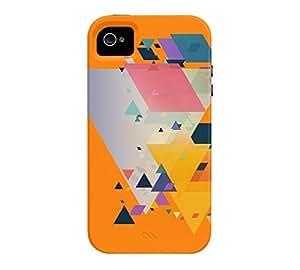 Angular Four iPhone 4/4s Apple Orange Tough Phone Case - Design By Humans