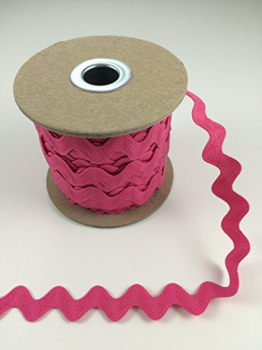 Trimplace 5/8 INCH RIC RAC 25 Yards (BRIGHT PINK)