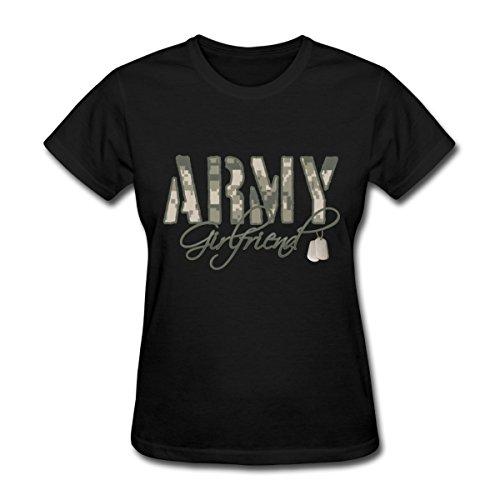 Spreadshirt Army Girlfriend Camo Dog Tags Women's T-Shirt, L (size 12-14), ()