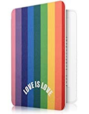Capa Kindle 10A. Geração Wb - Ultra Leve Auto Hibernação Sensor Magnético Silicone Flexível Love Is Love
