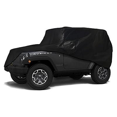 Xtrashield Custom Fit 2007-2020 Jeep Wrangler JK JL 2 Door SUV Black Car Cover: Automotive