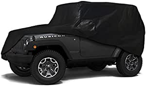 iiSPORT Cab Cover for Jeep Wrangler JK Unlimited 2 Door 100/% UV Protection Water-Resistant Car Cover Fit 2007-2018 Models Extra Thick Fabric SUV Cover Over Installed Top