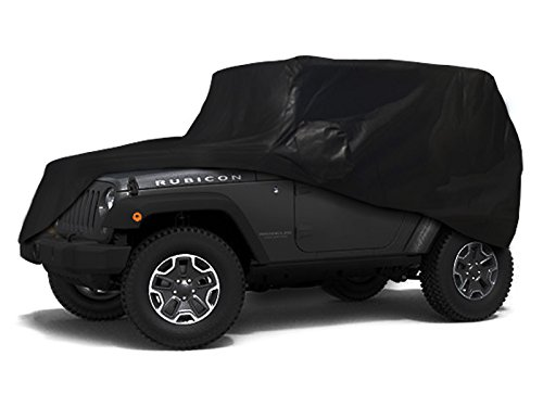 CarsCover Custom Fit 100% Sunblock 2007-2016 Jeep Wrangler 2 Door SUV Xtrashield Black Car Cover