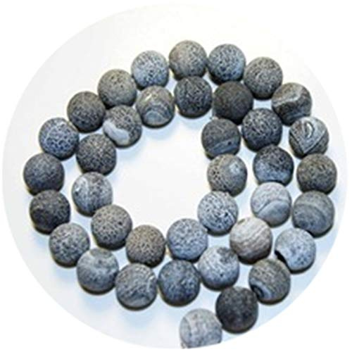 Natural Mixed Color Weathering Natural Stone Agat Beads 6/8/10/12mm Weathered Rocks Beads for Jewelry ()