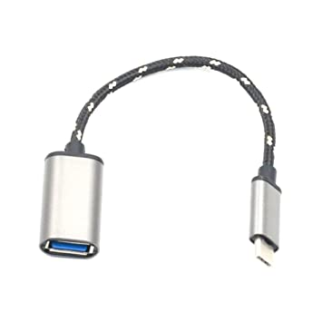 Vendiy 1Pcs Cargador USB Tipo C,Carga Rápida USB Tipo C de Aleación de Aluminio,Cable OTG Hembra para Samsung Galaxy S7/S6, Galaxy Note 5,Google Nexus ...