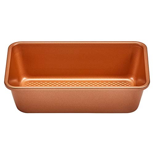 Chefs Non Stick Loaf Pan - Copper Chef 9x5 Loaf Pan | Diamond Baking Pans - Non Stick Cookware | Perfect Bread Pan for Oven