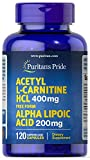 Puritan's Pride Acetyl L-Carnitine 400 mg with Alpha Lipoic Acid 200 mg-120 Capsules