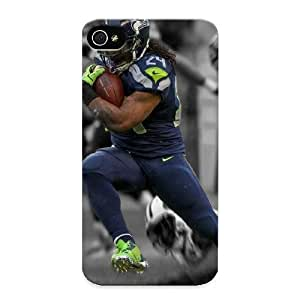 MwODQU-2201-DHvso Premium Marshawn Lynch Seahawks Back Cover Snap On Case For Iphone 4/4s