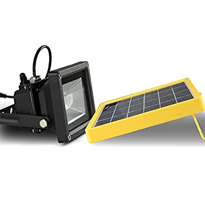 Warm White : [DBF] Waterproof 10W Solar powered LED Flood light with 5M wire+2200mA battery use in outdoor wall lamp outdoor led spot lighting