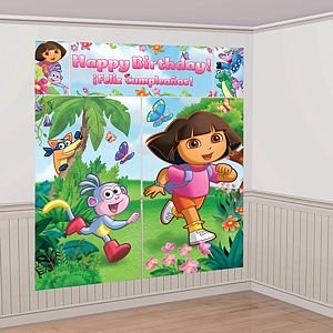 Dora the Explorer Scene Setter Decoration Set (Green/Blue) Party
