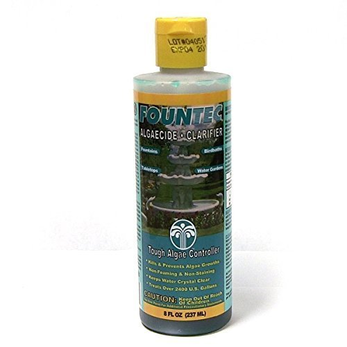 Fountec Algaecide (EasyCare FounTec Algaecide and Clarifier, 8 oz. Bottle (2 Bottles - 16 ounces) by EasyCare)