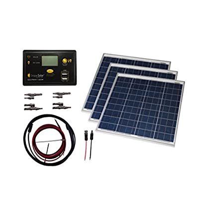 Grape Solar GS-150-KIT Off-Grid Solar Panel Kit, 150W