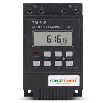 LEEPRA 220V 30AMP TM616 Control Load 7 Days Programmable Digital TIME SWITCH Relay Timer Control