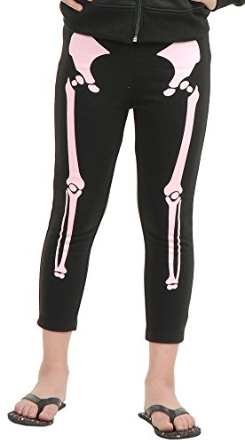 Charades Skeleton Children's Costume Leggings, -