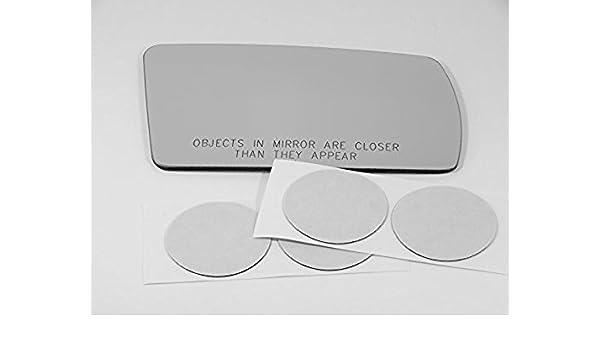 81-94 Saab 900 Left Driver Mirror Glass Lens w//Adhesive US Fits 81-98 Saab 9000