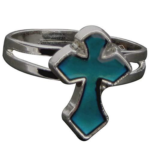 Adjustable Color Changing Mood Ring Inspirational Mystique Marble