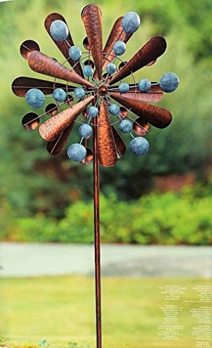 "Reversible Extra Large Wind Spinner Catcher 23"" Wide, 83"" High Weather Resistant Finish"