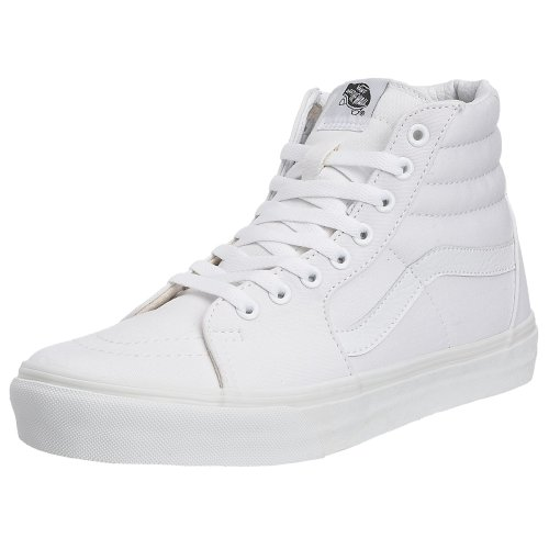 Vans Hautes Adulte Blanc White Sneakers Sk8 hi true Mixte Canvas HwfOAZHqr