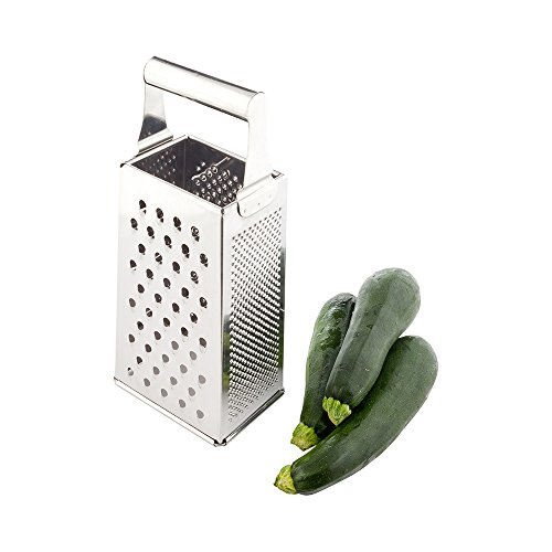 (Box Grater, Cheese Grater, Vegetable Grater - 4 Sided Grater - Heavy Duty Stainless Steel - 1ct Box - Met Lux - Restaurantware)