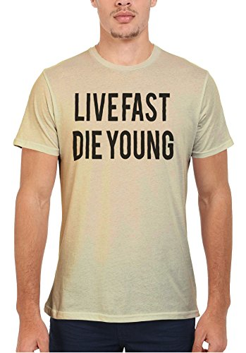 Live Fast Die Young Alcohol Drugs Men Women Damen Herren Unisex Top T Shirt-S