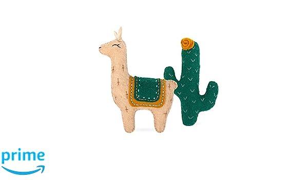 Kit de costura miadolla-Árbol De Llama Y Cactus de montaña